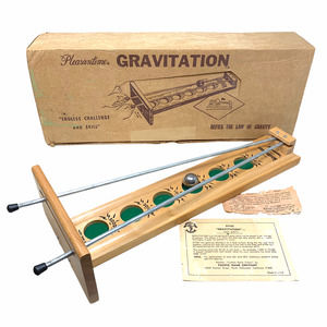 Vintage Pleasantime Gravitation Game Of Skill #4014 Wood Metal Ball Pacific Co.